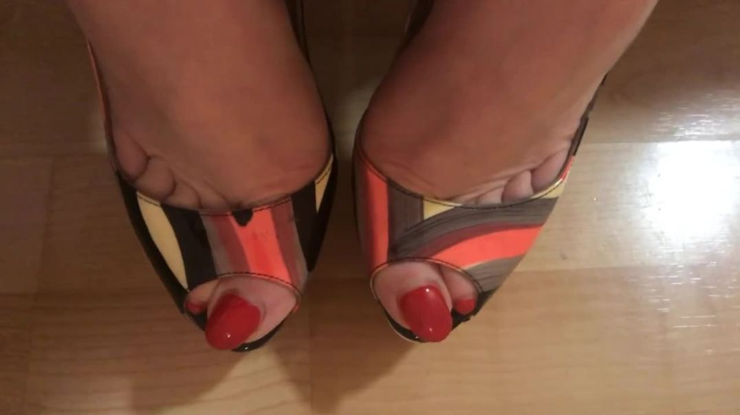 Well worn sling back Louboutins