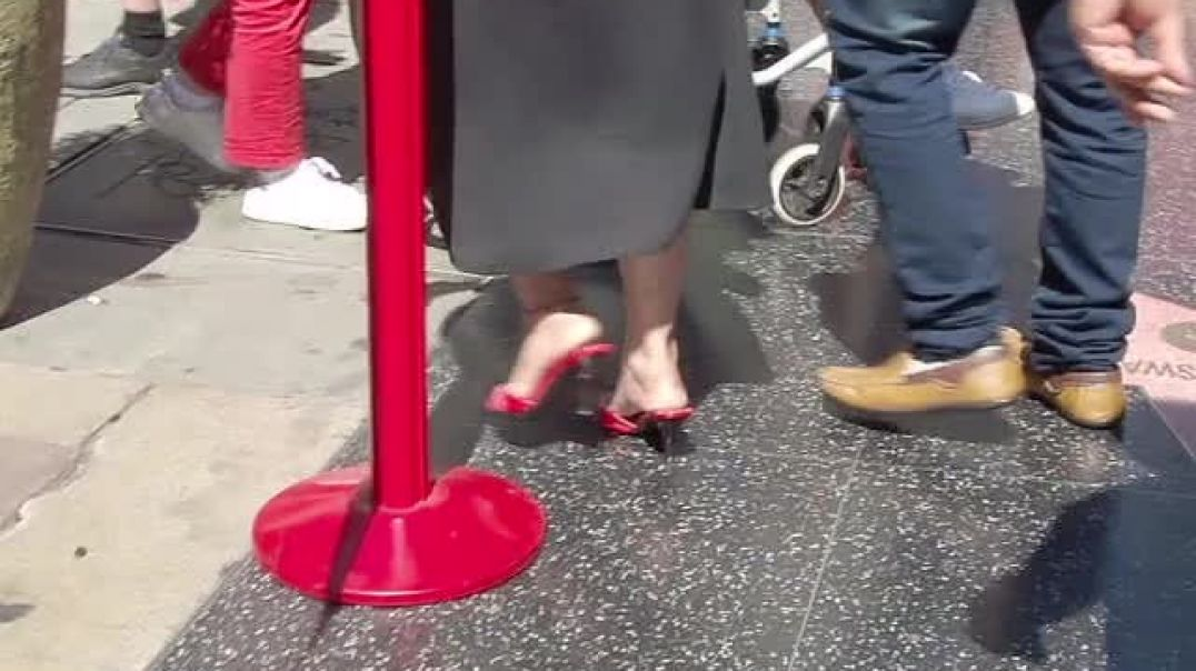 Indian MILF in Red Mules  - Hollywoods Walk of Fame - by Salsipuedes