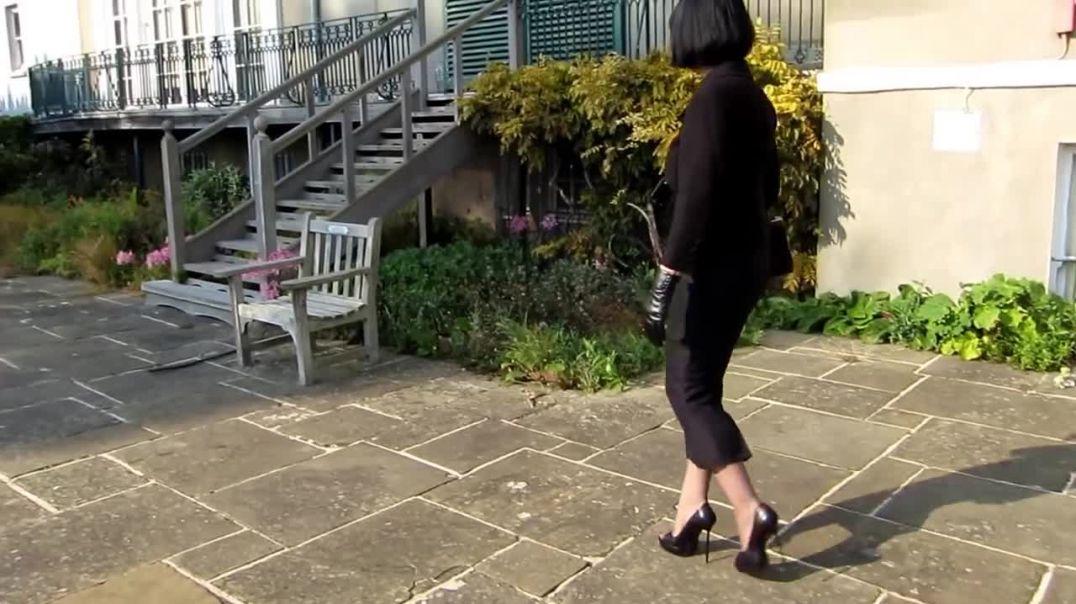 The Little Black Hobble Skirt Calf Length