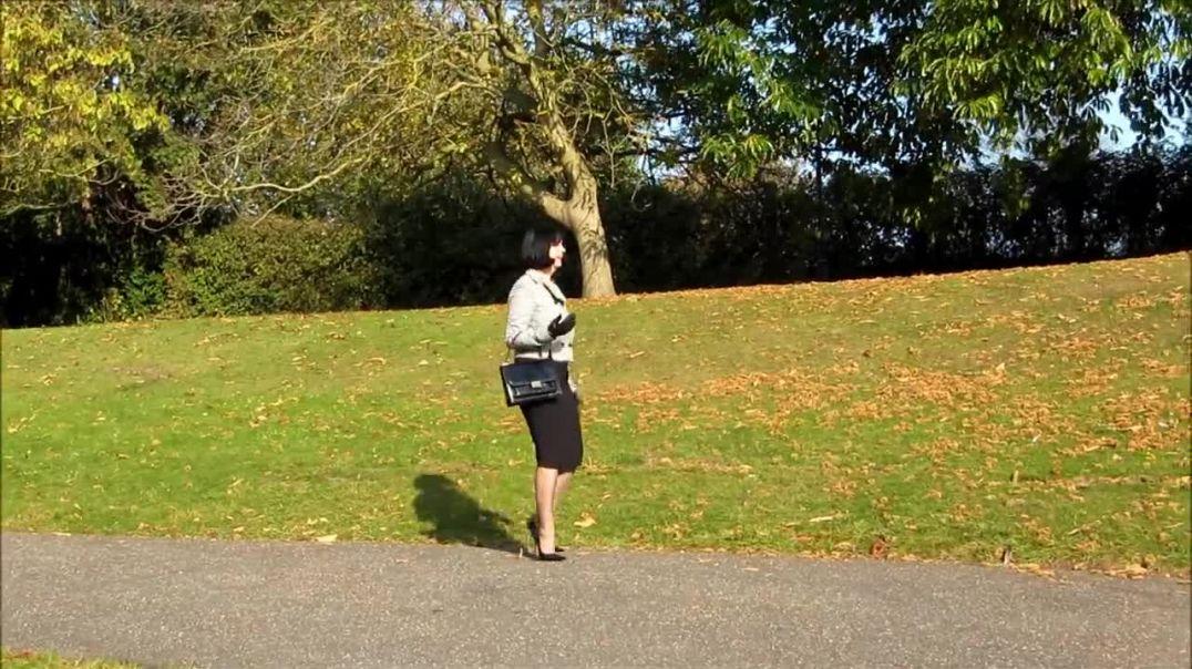 Hobble Skirt and High Heels Hurry Uphill