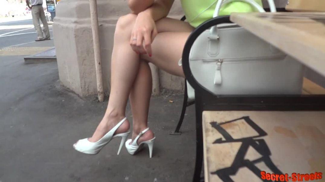 Street Candid - Sexy Slingbacks