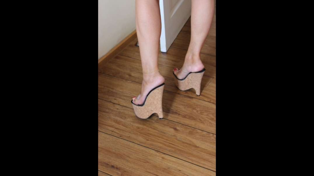 Cork Wedges (17cm) clear