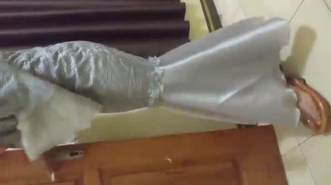 Girl in Indonesian wooden sandals