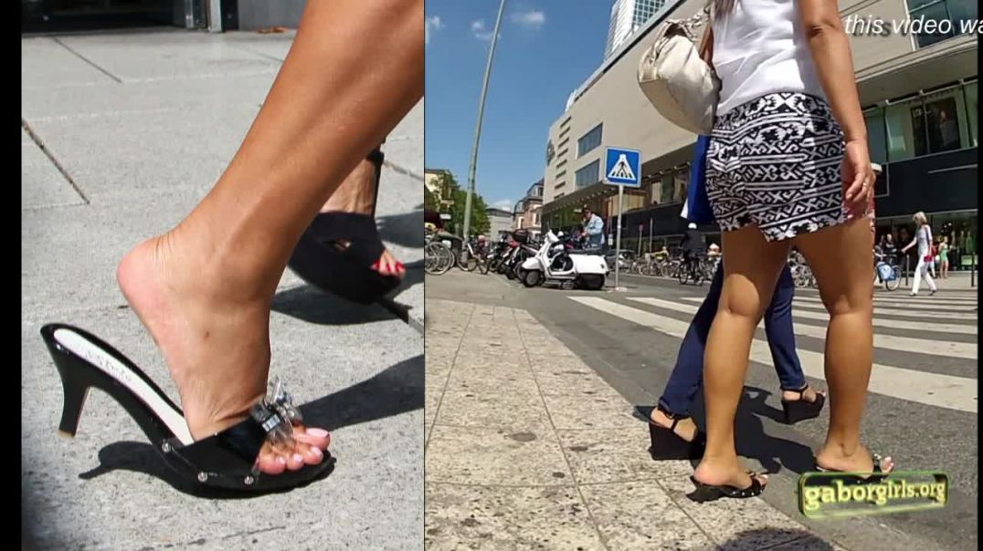 Gaborgirlstube Street Candid  - Sexy Thai Girl slapping in Zoccoli - Soleman Edition