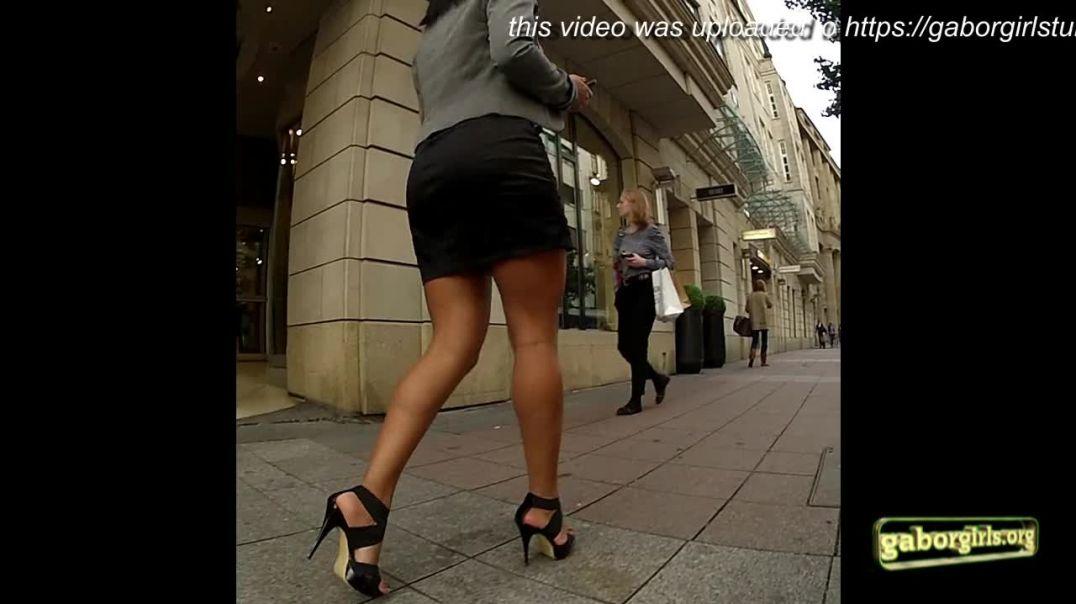 Gaborgirlstube Street Candid - Super sexy Legs in HighHeels