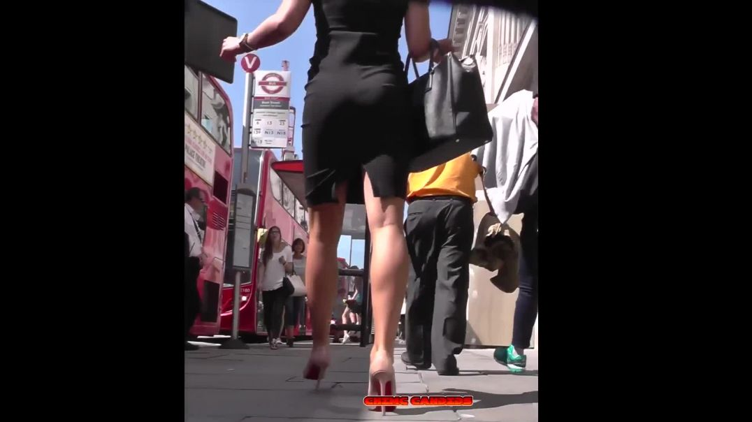 Street Candid - Hot Lady in Louboutin Highheels by CHIMC