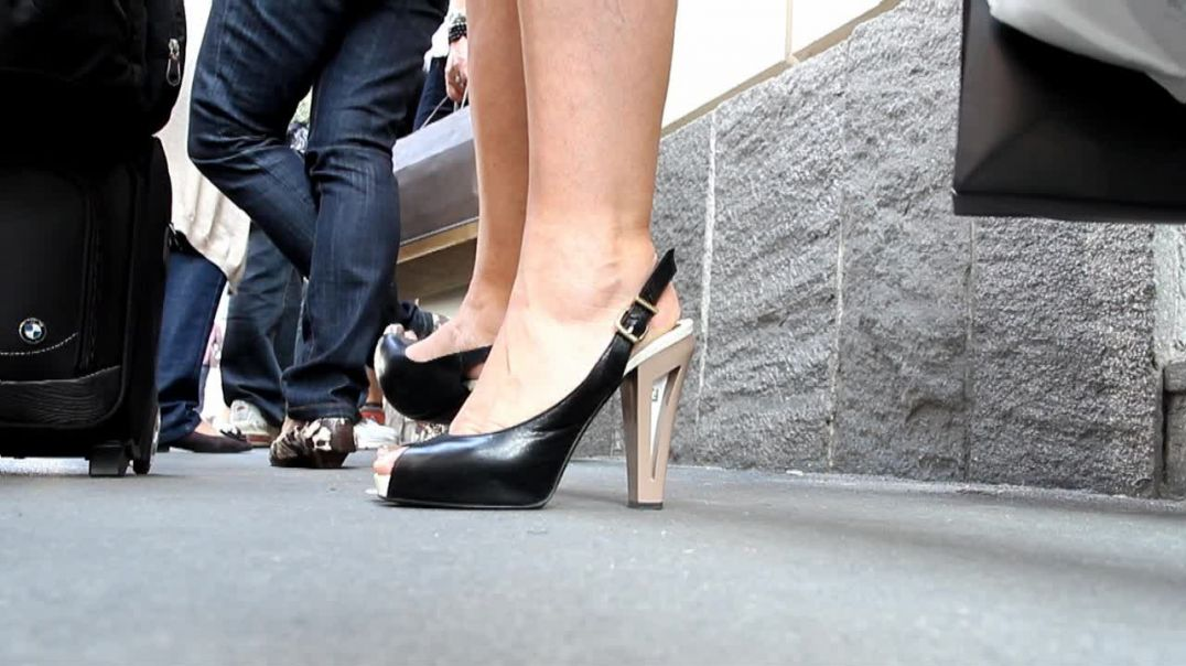 Street Candid - Mature shopping in Slingbacks by Digital Hunter