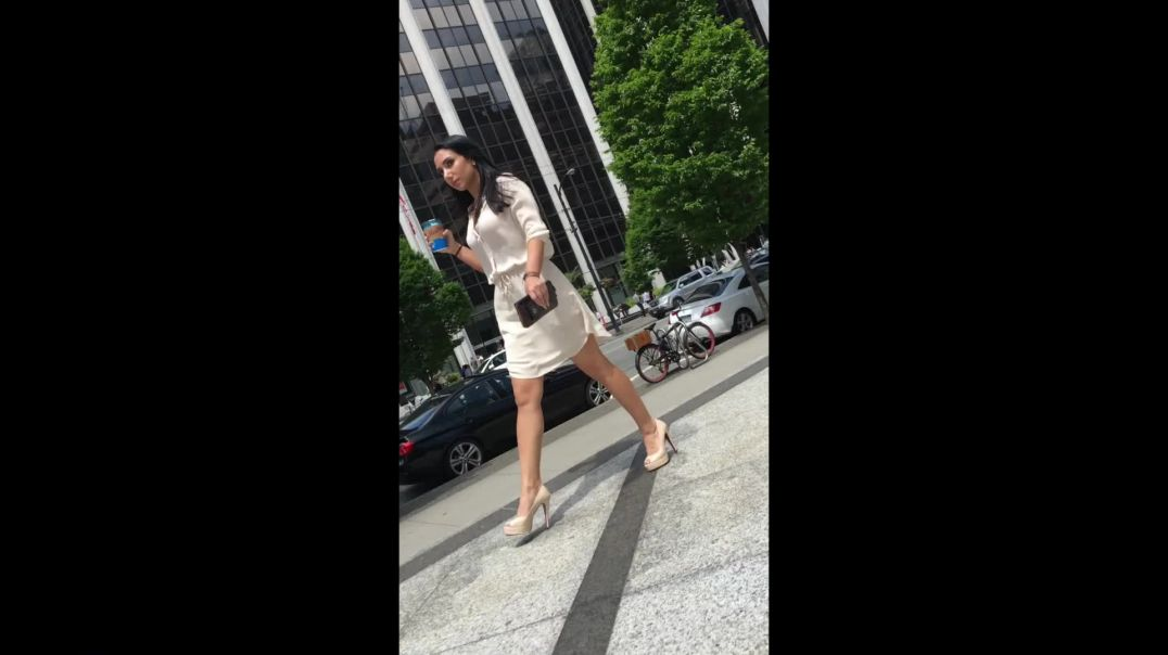 Street Candid - Sexy Business Lady in Louboutin Heels by Lcslvl