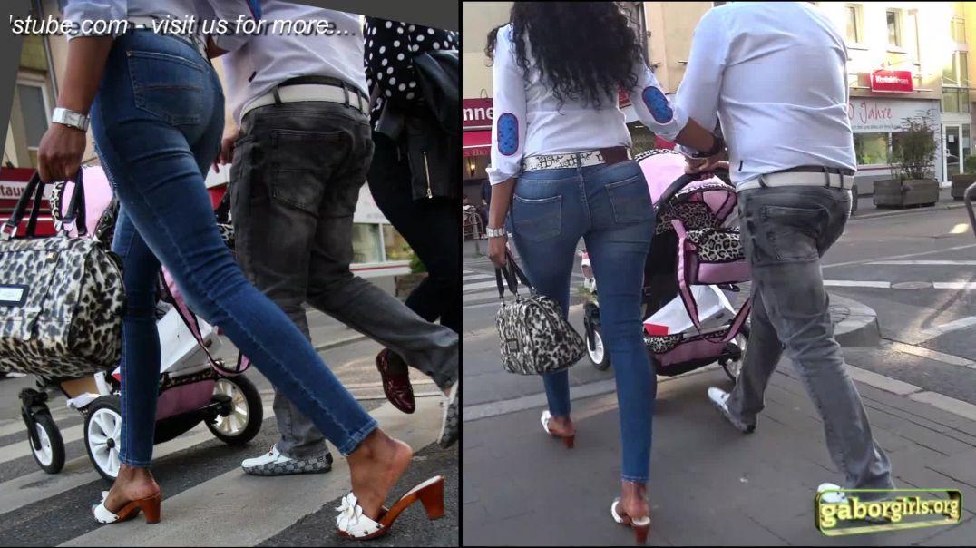 Gaborgirlstube Street Candid  - Sexy  Mom in Zoccoli Mules - Trailer