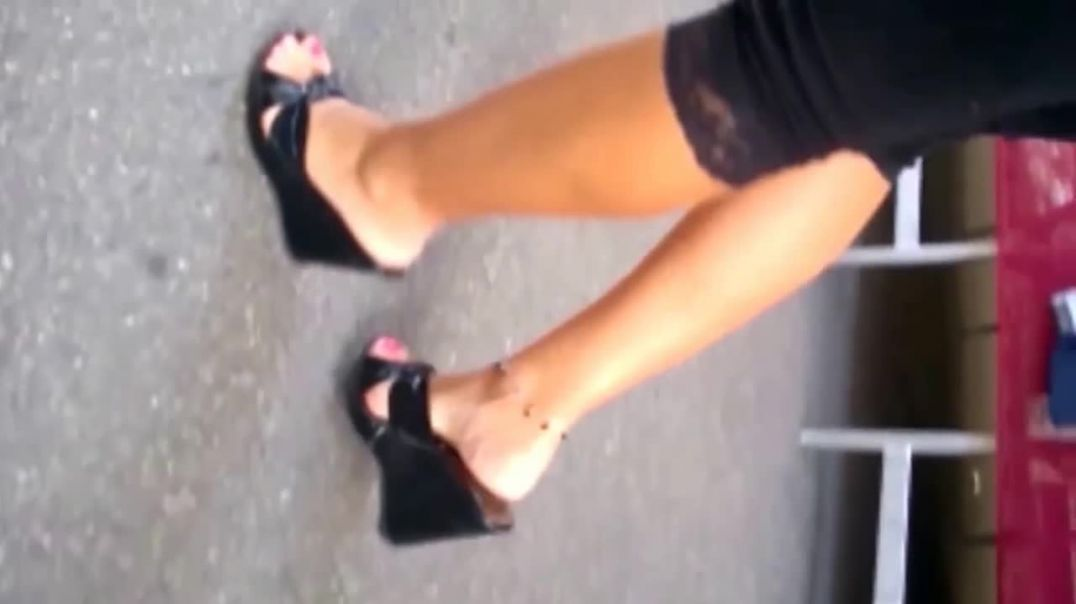 Street Candid  - Italian MILF in high Heeled Wedges by Angel heart