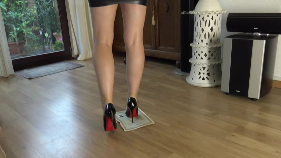 Crushing in sexy Louboutin Stiletto High Heels