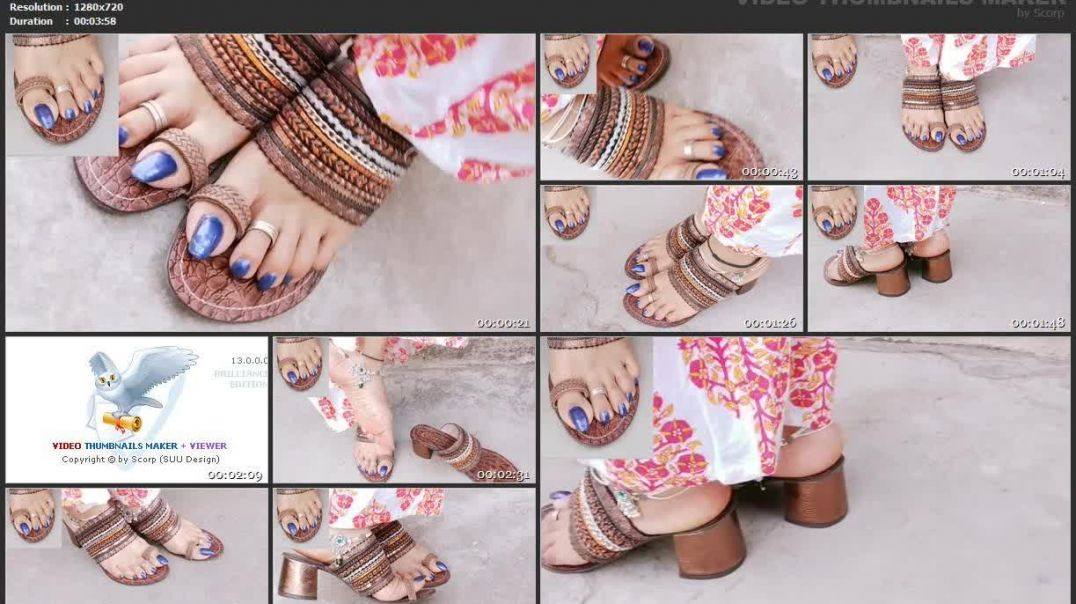 3.14 TOELOOP - blue nails & footwear toeloop sandals 480p
