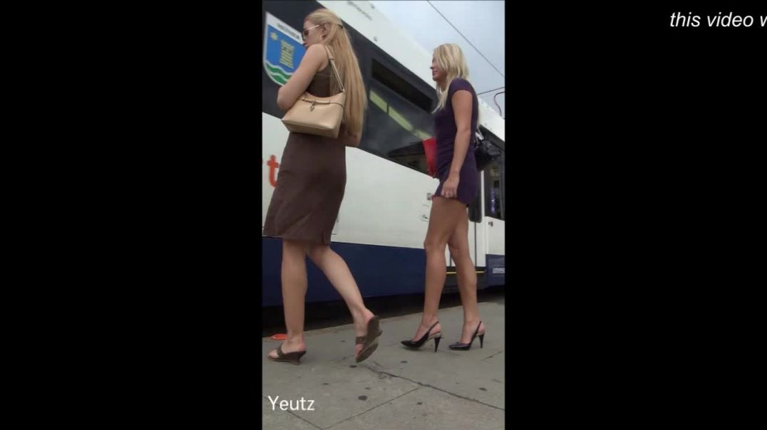Street Candid  - Sexy Russian Ladies in High Heels by Yeutz