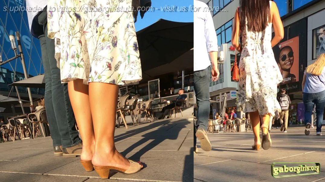 Gaborgirlstube Street Candid  - Cute Girl in Dr. Scholl Wooden Mules  - Part 2