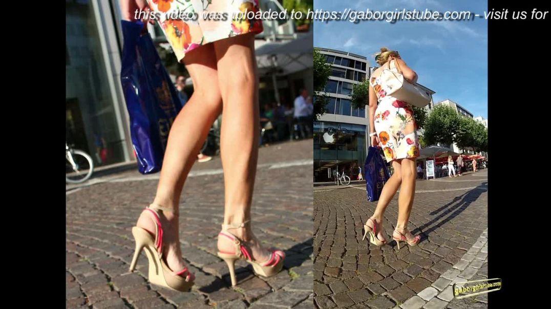 Gaborgirlstube Street Candid  - Classy MILF in High Heels