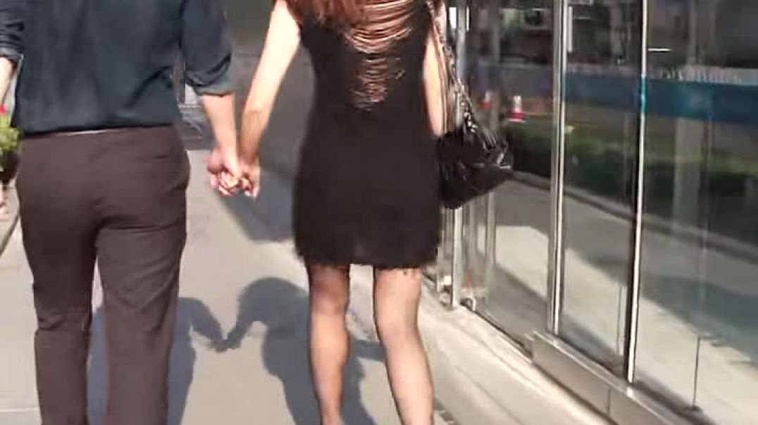Street Candid - Asian Girl in Mules  Part 1
