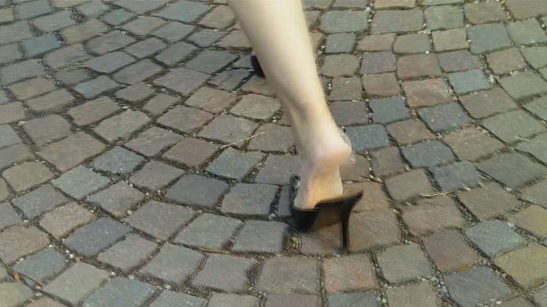 Slapping on Pumps Mules (11cm) (5) in Heidelberg, part 2