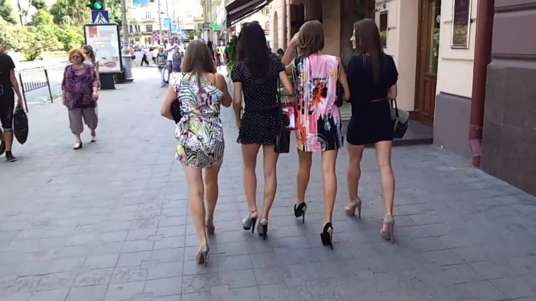 4 girls ultra high heels