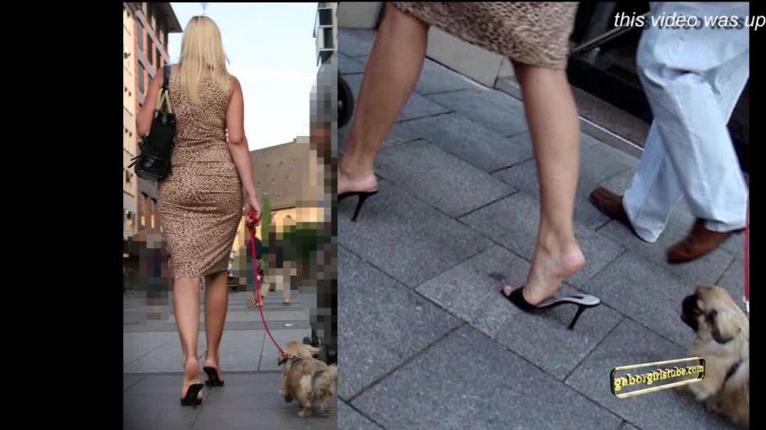 Gaborgirlstube Street Candid  - Sexiest Mom Alive - Russian Girl in Mules