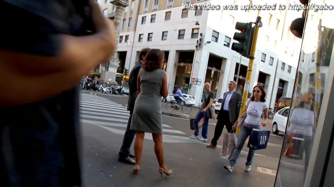 Street Candid  - Sexy Italian MILF in Slingback High Heels by Choolover