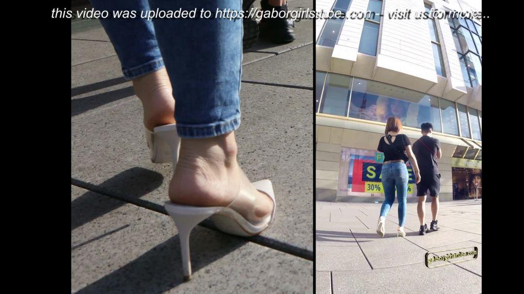 Gaborgirlstube Street Candid  - Girl in Pointy ZARA Mules