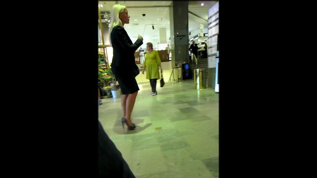 Street Candid - Swedish Blonde MILF in Stiletto High Heels by Digital Hunter