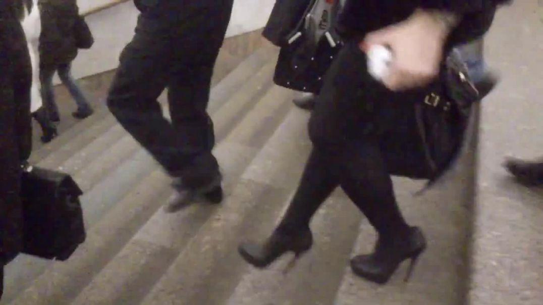 High heels in metro