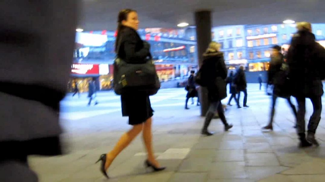 Street Candid - Business Lady in Black Pumps by Digital Hunter
