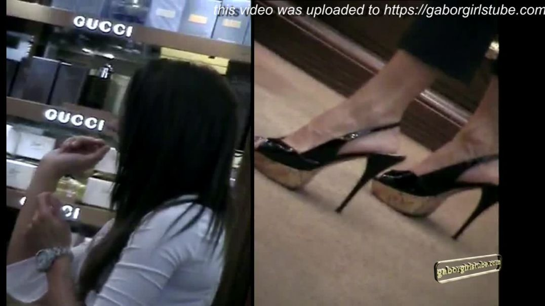 Sexy Gucci Girl in Platform Slingback High Heels Stilettos by Tacchialtissimi