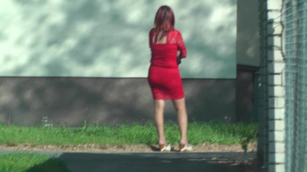 (HD REUPLOAD) Candid Pervert (The Other Red Dress)
