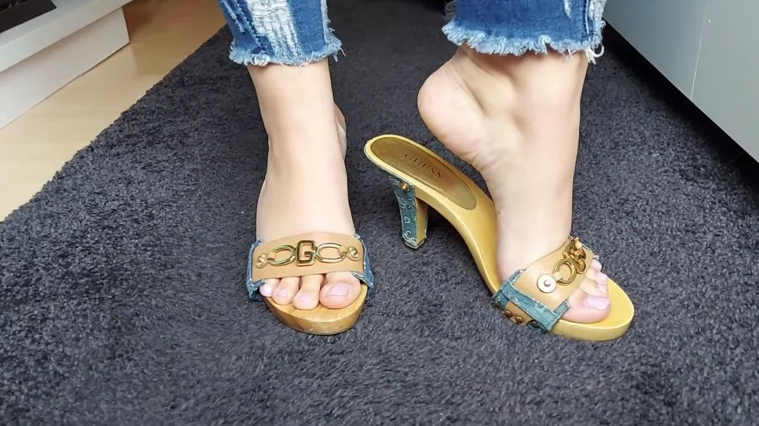 Sexy GUESS Wooden Mules by Pipa Feet