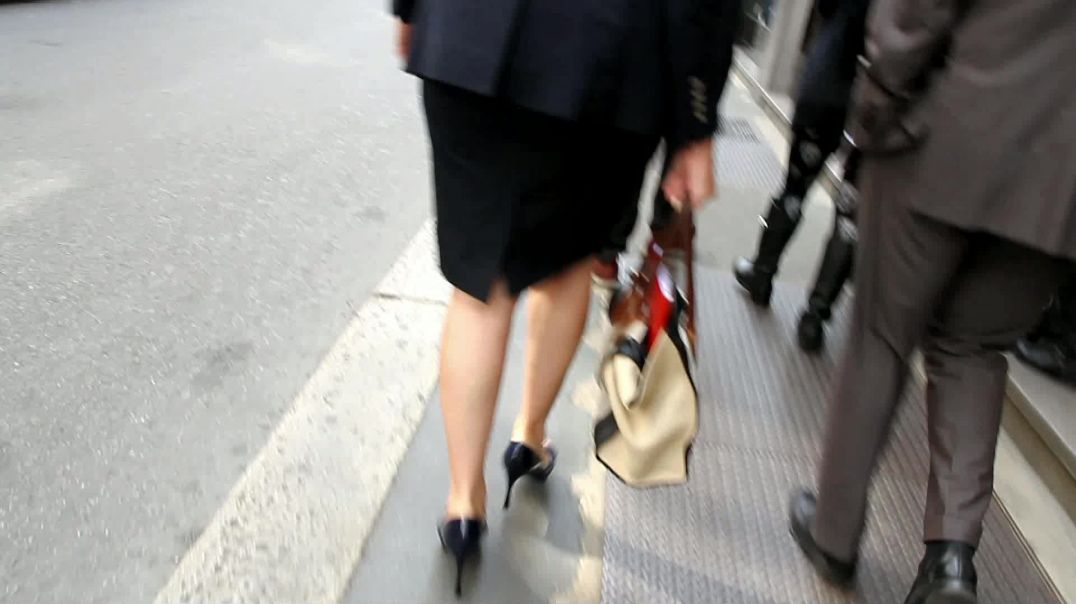 Street Candid - Italian Mature Lady in Stiletto High Heels by Digital Hunter