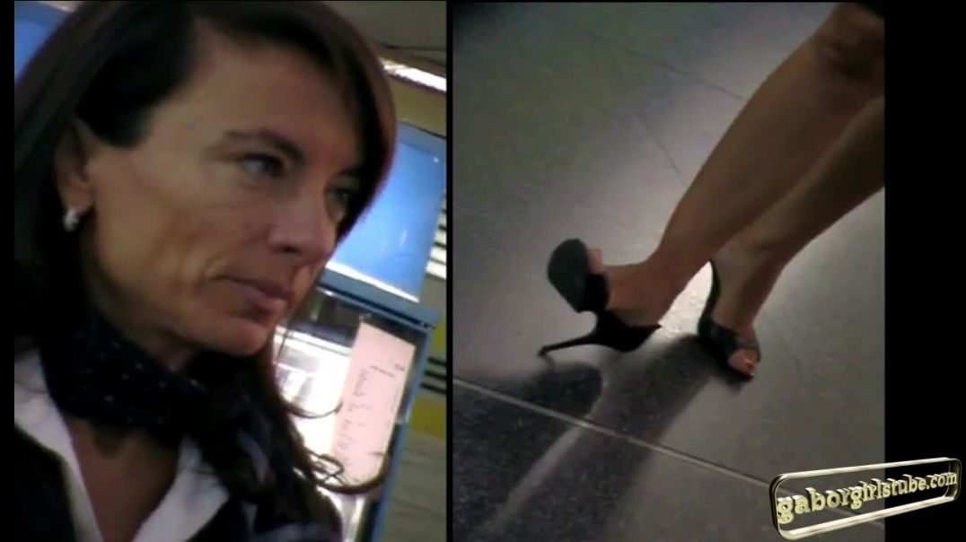 MILF Flight Attendant in sexy DOrsay Peeptoe High Heels  by Tacchialtissimi