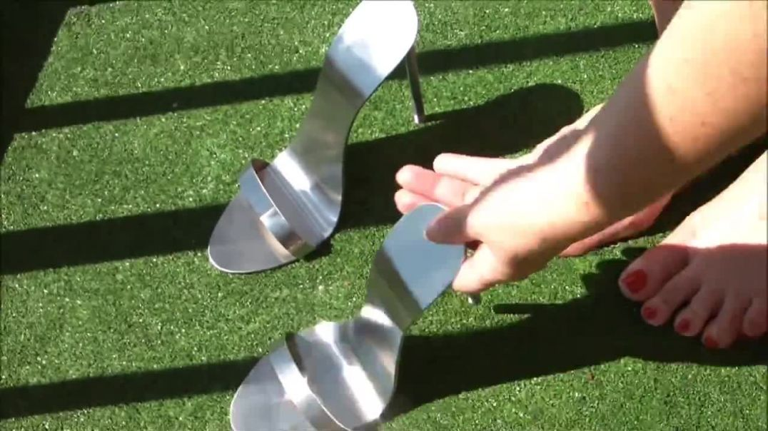 Playing with Metallic Mules shining in the sun