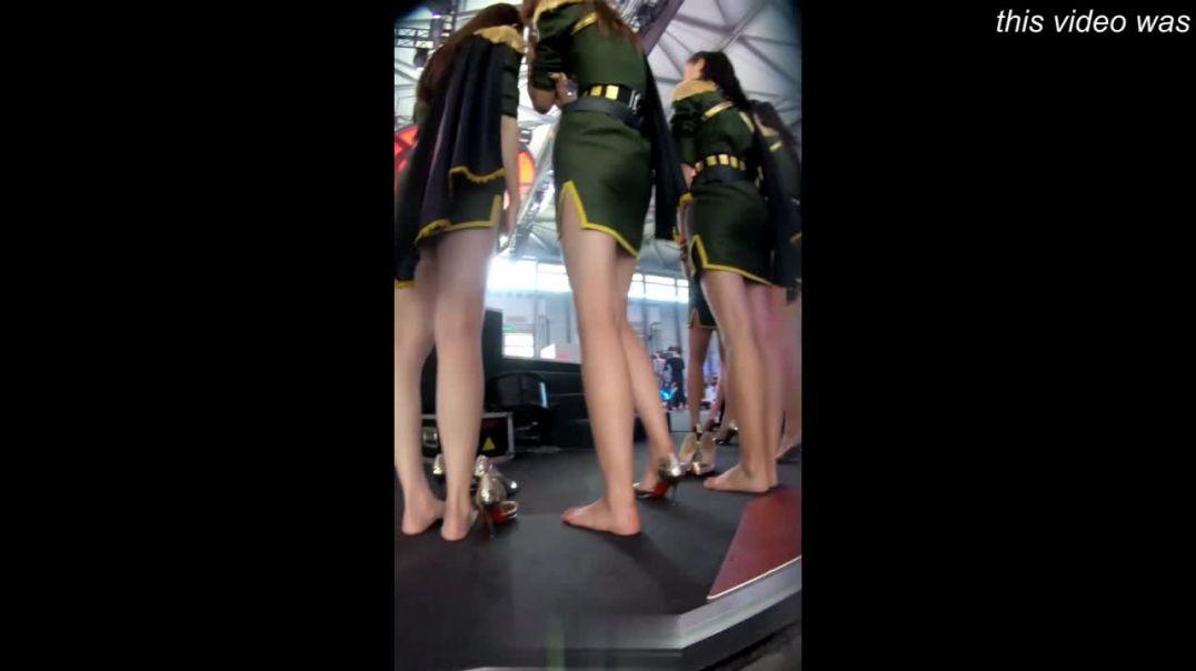 Asian Hostess in High Heels