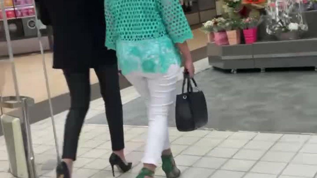 2 candid oriental milfs in sexy high heels