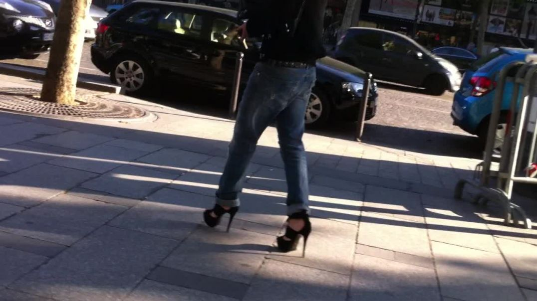 jeans and high heels