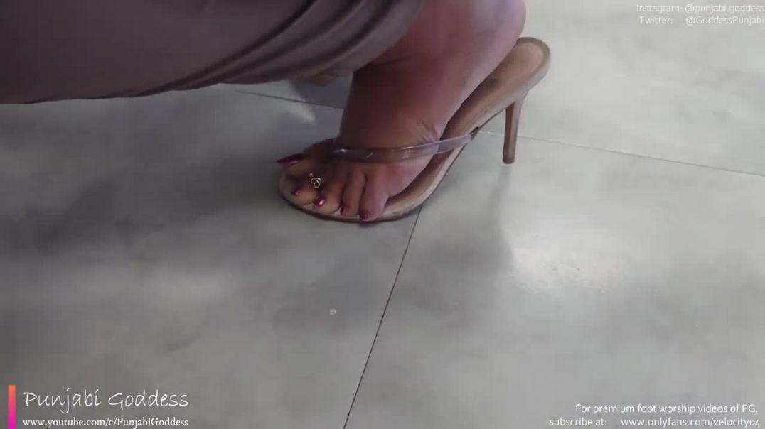 Sexy Aldo Thong Heels With Clear Thin Strap Punjabi Goddess