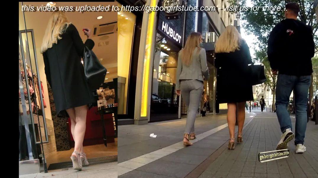 Gaborgirlstube Street Candid  - MILF in wellworn Valentino High Heels