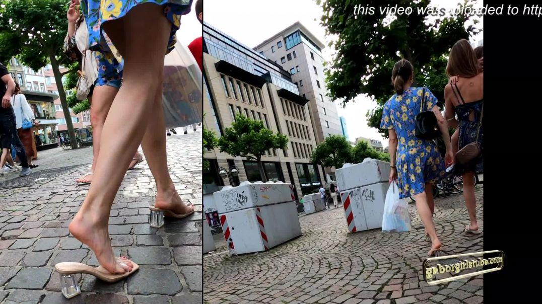 Gaborgirlstube Street Candid  - Mom in sexy ZARA Mules  - Slowmo