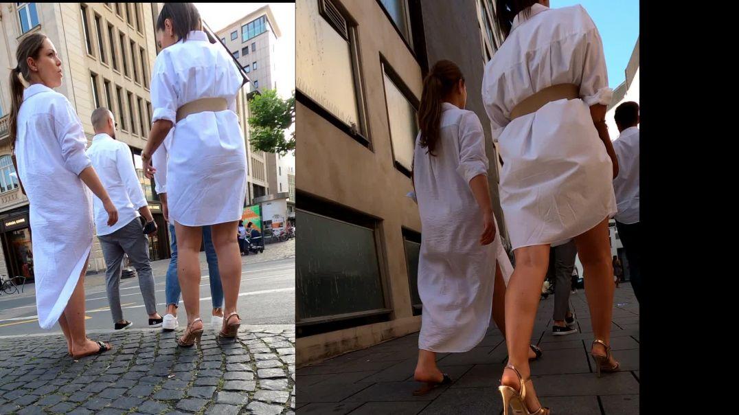 Gaborgirlstube Street Candid  - Just white Ladies