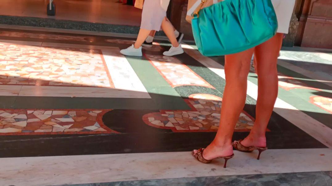 Walking in Gucci Heels