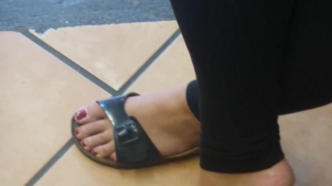 Hot Birkenstock Shoeplay - Indoor Candid - Sexy Feet, Toes, Soles