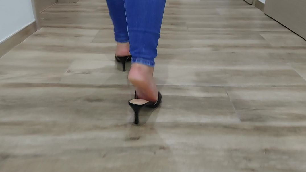 I test my new shoes