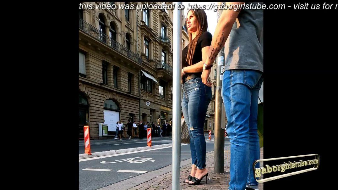 Gaborgirlstube Street Candid  - Mules and Ass she got Class