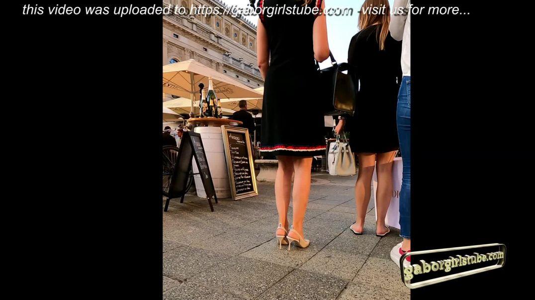 Gaborgirlstube Street Candid  - MILF in Miu Miu Slingback Heels