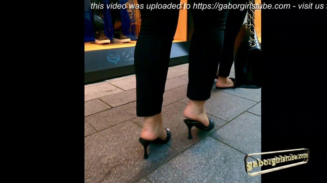 Gaborgirlstube Street Candid  - Fuck me Valentino Mules